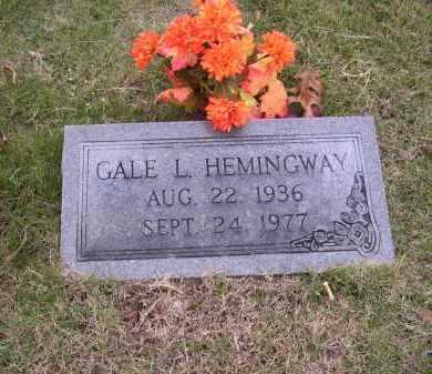 HEMINGWAY, GALE L - Cross County, Arkansas | GALE L HEMINGWAY - Arkansas Gravestone Photos