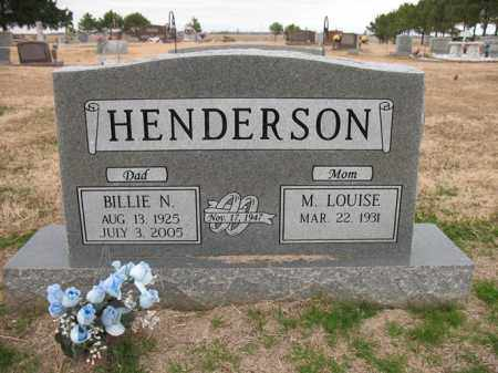HENDERSON, BILLIE N - Cross County, Arkansas | BILLIE N HENDERSON - Arkansas Gravestone Photos