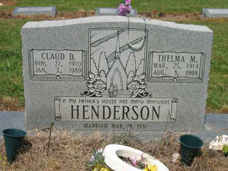 HENDERSON, CLAUD D - Cross County, Arkansas | CLAUD D HENDERSON - Arkansas Gravestone Photos