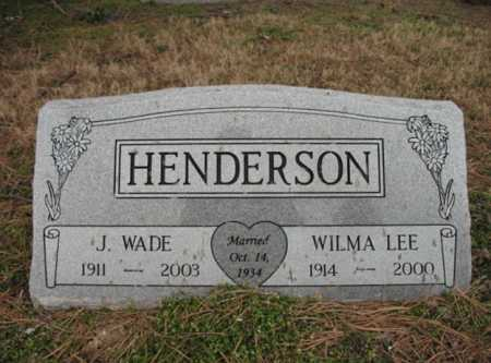 HENDERSON, J WADE - Cross County, Arkansas | J WADE HENDERSON - Arkansas Gravestone Photos
