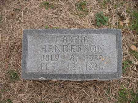 HENDERSON, MARTHA - Cross County, Arkansas | MARTHA HENDERSON - Arkansas Gravestone Photos