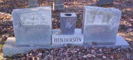 HENDERSON, OLLIE CURTIS - Cross County, Arkansas | OLLIE CURTIS HENDERSON - Arkansas Gravestone Photos