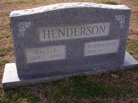 HENDERSON, WALTER - Cross County, Arkansas | WALTER HENDERSON - Arkansas Gravestone Photos