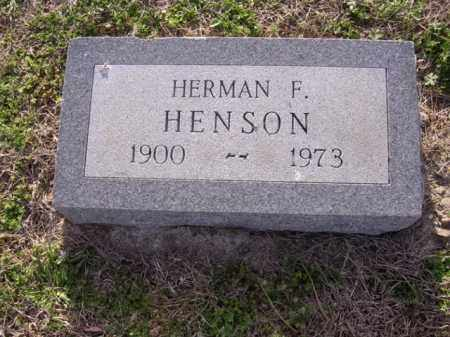 HENSON, HERMAN F - Cross County, Arkansas | HERMAN F HENSON - Arkansas Gravestone Photos