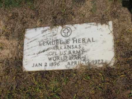 HERAL (VETERAN WWI), LEMUEL E - Cross County, Arkansas | LEMUEL E HERAL (VETERAN WWI) - Arkansas Gravestone Photos