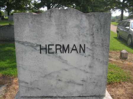 HERMAN, PLOT STONE - Cross County, Arkansas | PLOT STONE HERMAN - Arkansas Gravestone Photos