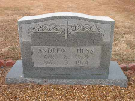 HESS, ANDREW J - Cross County, Arkansas | ANDREW J HESS - Arkansas Gravestone Photos