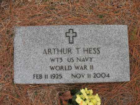 HESS (VETERAN WWII), ARTHUR T - Cross County, Arkansas | ARTHUR T HESS (VETERAN WWII) - Arkansas Gravestone Photos