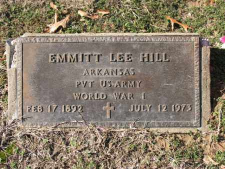 HILL (VETERAN WWI), EMMITT LEE - Cross County, Arkansas | EMMITT LEE HILL (VETERAN WWI) - Arkansas Gravestone Photos