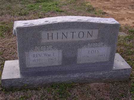 HINTON REV, WILLIAM E - Cross County, Arkansas | WILLIAM E HINTON REV - Arkansas Gravestone Photos