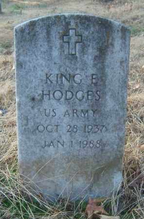HODGES (VETERAN), KING E - Cross County, Arkansas | KING E HODGES (VETERAN) - Arkansas Gravestone Photos