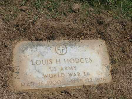 HODGES (VETERAN WWI), LOUIS H - Cross County, Arkansas | LOUIS H HODGES (VETERAN WWI) - Arkansas Gravestone Photos