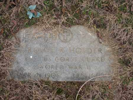 HOLDER (VETERAN WWII), ROMIE R - Cross County, Arkansas | ROMIE R HOLDER (VETERAN WWII) - Arkansas Gravestone Photos