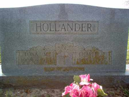 HOLLANDER, CHARLIE F - Cross County, Arkansas | CHARLIE F HOLLANDER - Arkansas Gravestone Photos