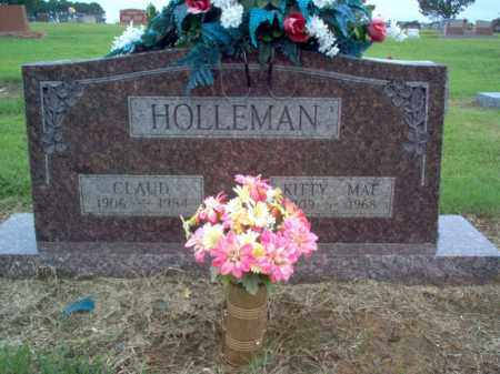 HOLLEMAN, CLAUD - Cross County, Arkansas | CLAUD HOLLEMAN - Arkansas Gravestone Photos