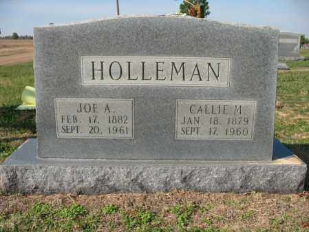 HOLLEMAN, CALLIE M - Cross County, Arkansas | CALLIE M HOLLEMAN - Arkansas Gravestone Photos