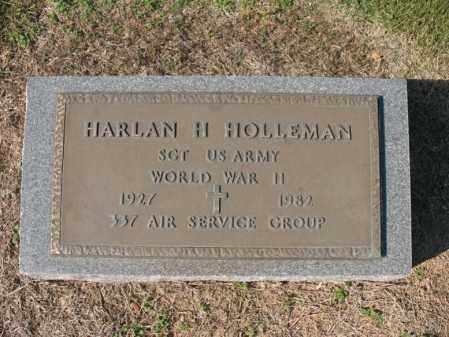 HOLLEMAN (VETERAN WWII), HARLAN H - Cross County, Arkansas | HARLAN H HOLLEMAN (VETERAN WWII) - Arkansas Gravestone Photos