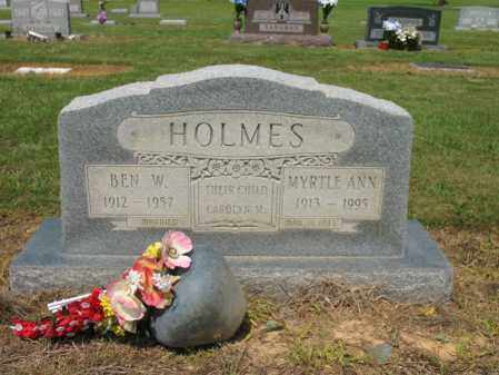 HOLMES, BEN W - Cross County, Arkansas | BEN W HOLMES - Arkansas Gravestone Photos