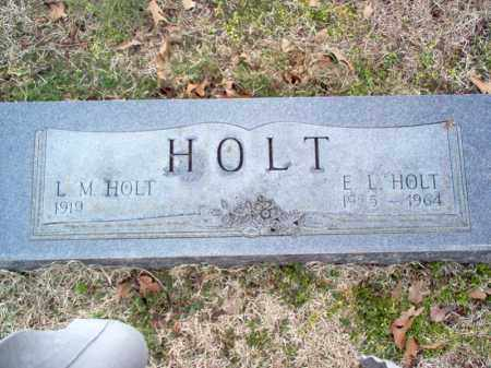HOLT, E L - Cross County, Arkansas | E L HOLT - Arkansas Gravestone Photos