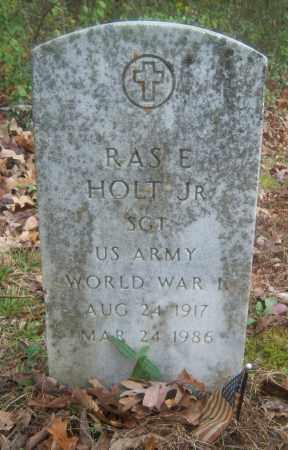 HOLT (VETERAN WWII), RAS E - Cross County, Arkansas | RAS E HOLT (VETERAN WWII) - Arkansas Gravestone Photos