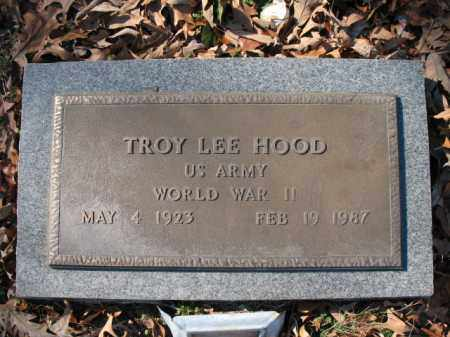 HOOD (VETERAN WWII), TROY LEE - Cross County, Arkansas | TROY LEE HOOD (VETERAN WWII) - Arkansas Gravestone Photos