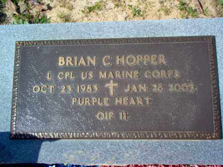 HOPPER (VETERAN IRAQ, KIA), BRIAN C - Cross County, Arkansas | BRIAN C HOPPER (VETERAN IRAQ, KIA) - Arkansas Gravestone Photos