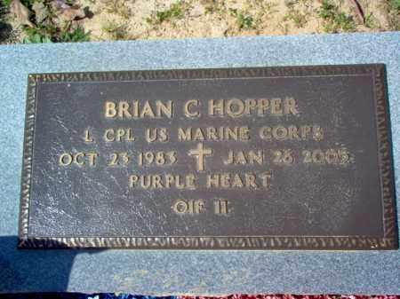 HOPPER (VETERAN IRAQ, KIA), BRIAN C - Cross County, Arkansas | BRIAN C HOPPER (VETERAN IRAQ, KIA) - Arkansas Gravestone Photos