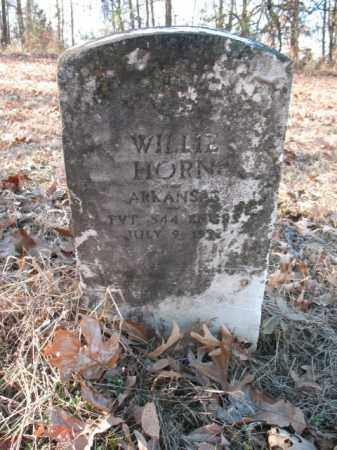 HORN (VETERAN), WILLIE - Cross County, Arkansas | WILLIE HORN (VETERAN) - Arkansas Gravestone Photos