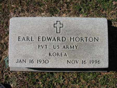 HORTON (VETERAN KOR), EARL EDWARD - Cross County, Arkansas | EARL EDWARD HORTON (VETERAN KOR) - Arkansas Gravestone Photos