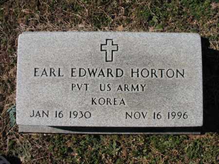 HORTON (VETERAN KOR), EARL EDWARD - Cross County, Arkansas | EARL EDWARD HORTON (VETERAN KOR) - Arkansas Gravestone Photos