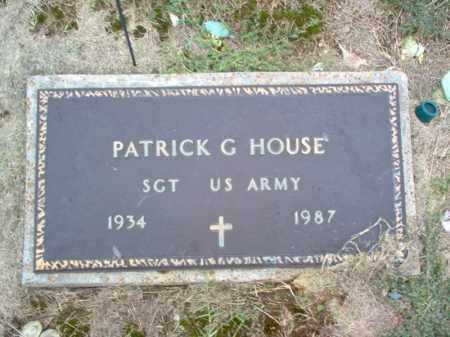 HOUSE (VETERAN), PATRICK G - Cross County, Arkansas | PATRICK G HOUSE (VETERAN) - Arkansas Gravestone Photos