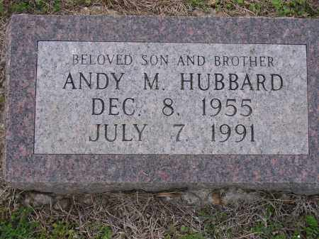 HUBBARD, ANDY M - Cross County, Arkansas | ANDY M HUBBARD - Arkansas Gravestone Photos