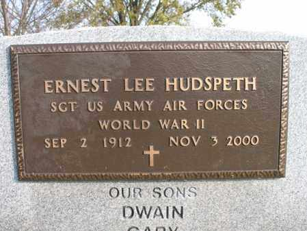 HUDSPETH (VETERAN WWII), ERNEST LEE - Cross County, Arkansas | ERNEST LEE HUDSPETH (VETERAN WWII) - Arkansas Gravestone Photos