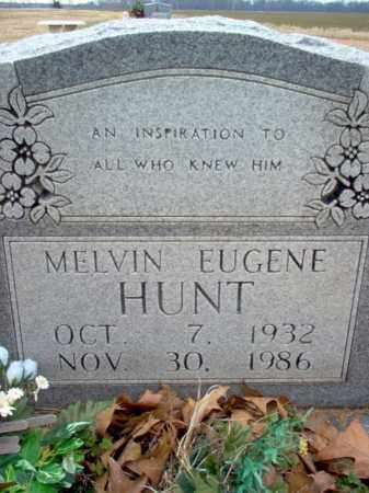 HUNT, MELVIN EUGENE - Cross County, Arkansas | MELVIN EUGENE HUNT - Arkansas Gravestone Photos