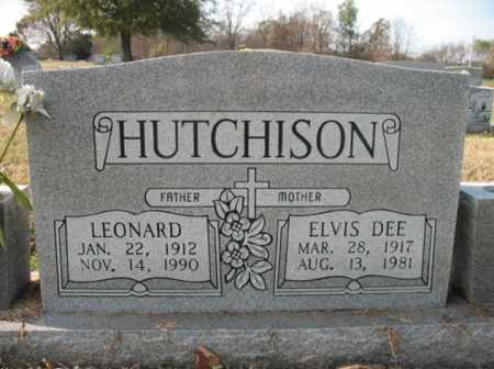 HUTCHISON, LEONARD - Cross County, Arkansas | LEONARD HUTCHISON - Arkansas Gravestone Photos