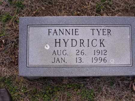 TYER HYDRICK, FANNIE - Cross County, Arkansas | FANNIE TYER HYDRICK - Arkansas Gravestone Photos