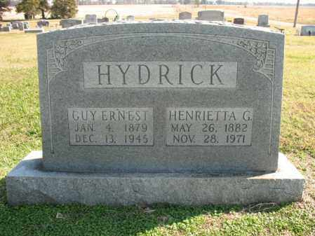 HYDRICK, HENRIETTA G - Cross County, Arkansas | HENRIETTA G HYDRICK - Arkansas Gravestone Photos