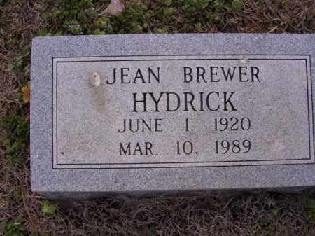 BREWER HYDRICK, JEAN - Cross County, Arkansas | JEAN BREWER HYDRICK - Arkansas Gravestone Photos