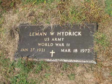 HYDRICK (VETERAN WWII), LEMAN W - Cross County, Arkansas | LEMAN W HYDRICK (VETERAN WWII) - Arkansas Gravestone Photos