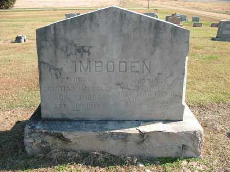 IMBODEN, CHRISTIAN - Cross County, Arkansas | CHRISTIAN IMBODEN - Arkansas Gravestone Photos