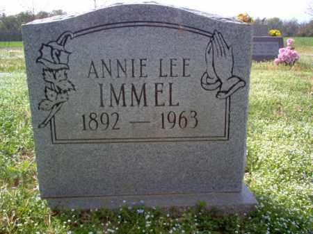 IMMEL, ANNIE LEE - Cross County, Arkansas | ANNIE LEE IMMEL - Arkansas Gravestone Photos