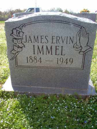 IMMEL, JAMES ERVIN - Cross County, Arkansas | JAMES ERVIN IMMEL - Arkansas Gravestone Photos