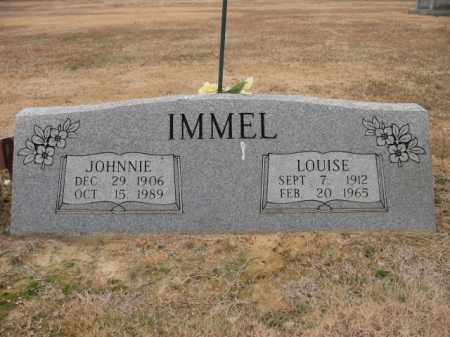 IMMEL, JOHNNIE - Cross County, Arkansas | JOHNNIE IMMEL - Arkansas Gravestone Photos