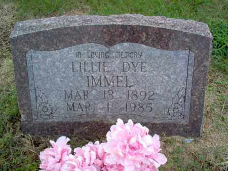 DYE IMMEL, LILLIE - Cross County, Arkansas | LILLIE DYE IMMEL - Arkansas Gravestone Photos