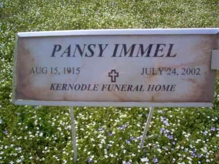 IMMEL, PANSY - Cross County, Arkansas | PANSY IMMEL - Arkansas Gravestone Photos