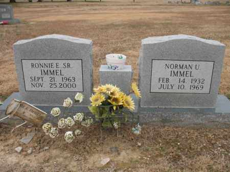 IMMEL, NORMAN U - Cross County, Arkansas | NORMAN U IMMEL - Arkansas Gravestone Photos