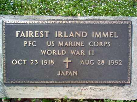 IMMEL (VETERAN WWII), FAIREST IRLAND - Cross County, Arkansas | FAIREST IRLAND IMMEL (VETERAN WWII) - Arkansas Gravestone Photos