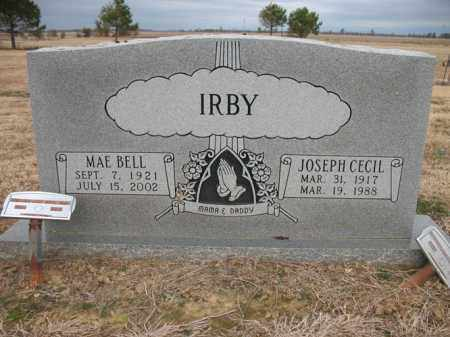 IRBY, JOSEPH CECIL - Cross County, Arkansas | JOSEPH CECIL IRBY - Arkansas Gravestone Photos