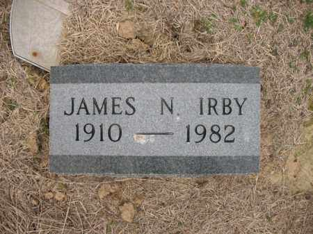 IRBY, JAMES N - Cross County, Arkansas | JAMES N IRBY - Arkansas Gravestone Photos