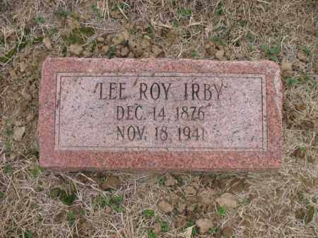IRBY, LEE ROY - Cross County, Arkansas | LEE ROY IRBY - Arkansas Gravestone Photos